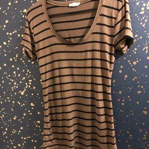 Brown & black striped top blouse 👚